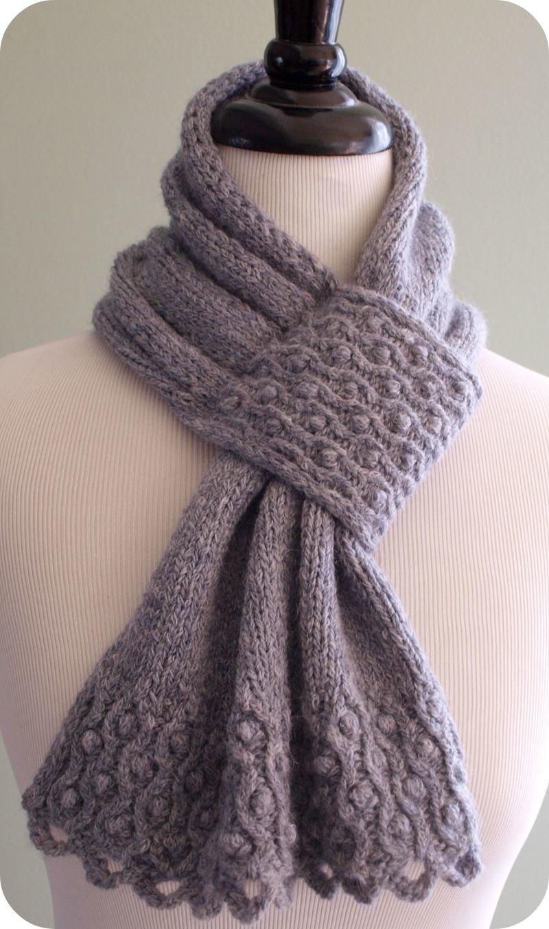 Вязание шарф с петлей 743