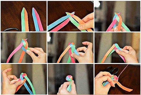 Инструкция как сделать гирлянды из шаров 66