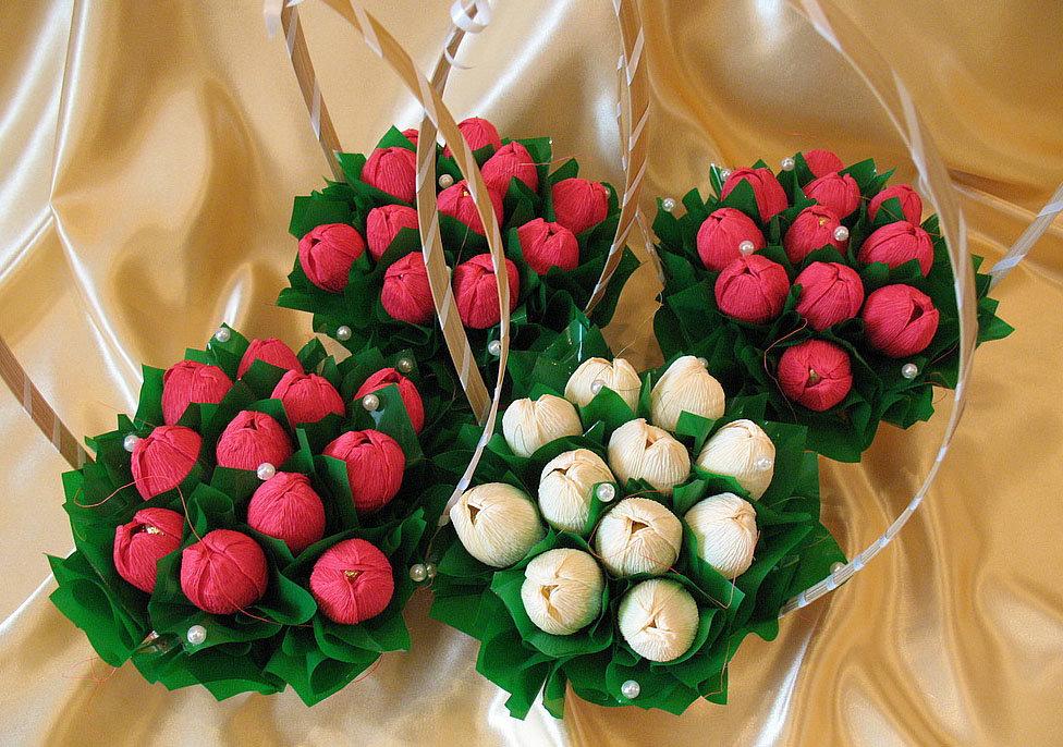 Конфетный букет розы своими руками для начинающих