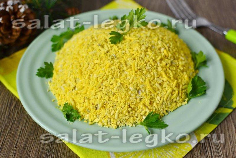 Салат мимоза с сайрой классический рецепт с
