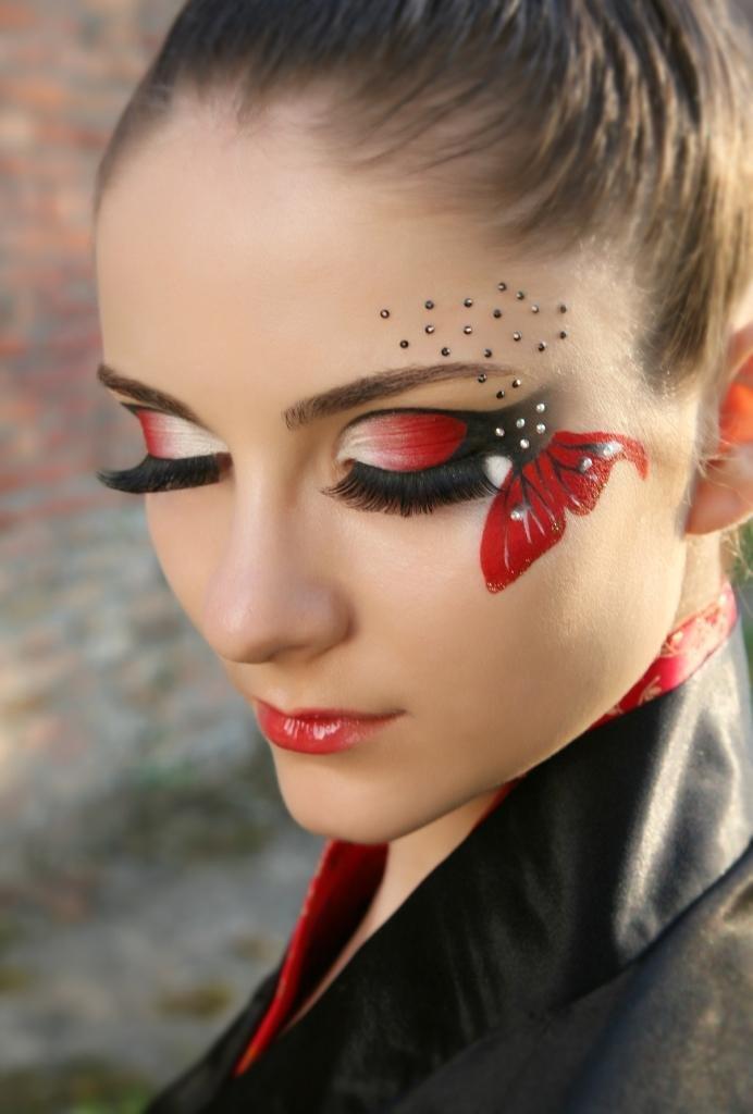 Рисованный макияж фото