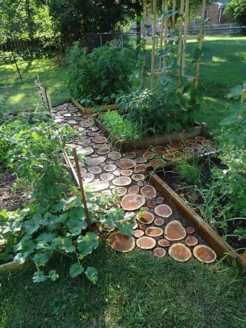Как сделать дорожки на огороде