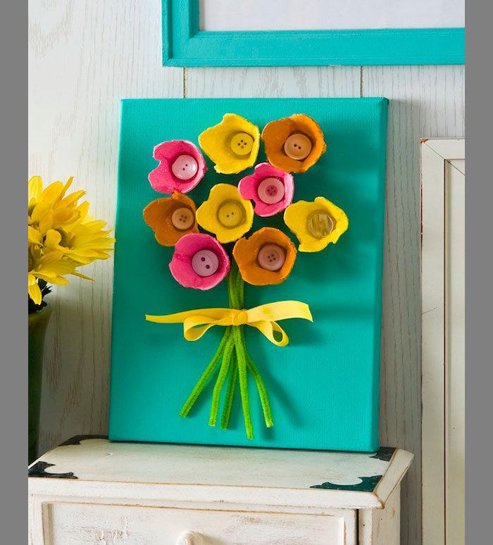 Цветы для мамы своими руками с ребенком 73