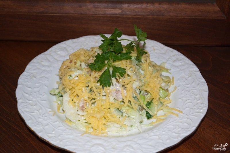 Салат с сыром и курицей рецепт пошаговый
