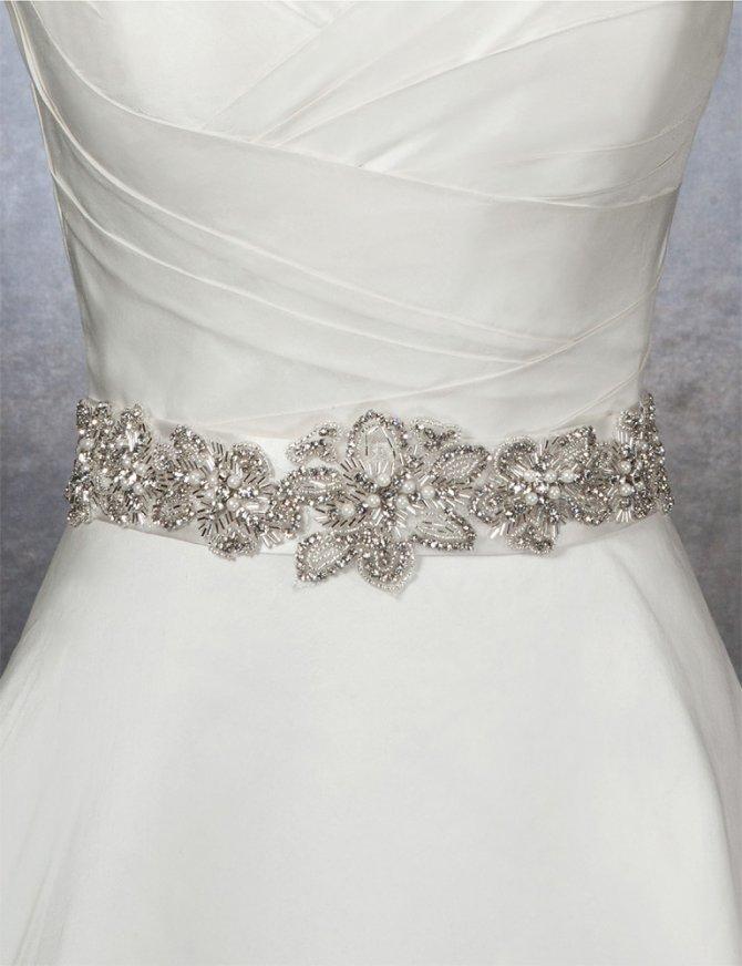 Пояса к свадебному платью