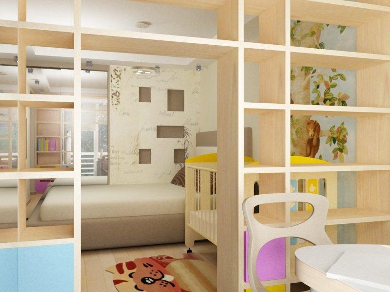 Дизайн комнаты с перегородкой для ребенка