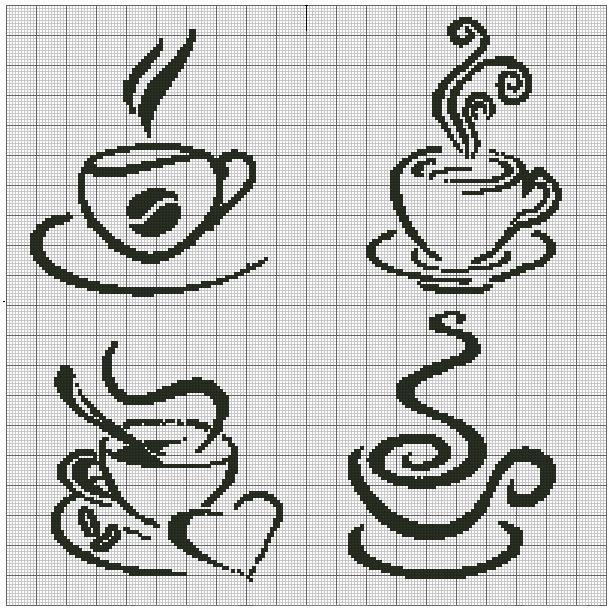 Вышивка кофе схемы 89