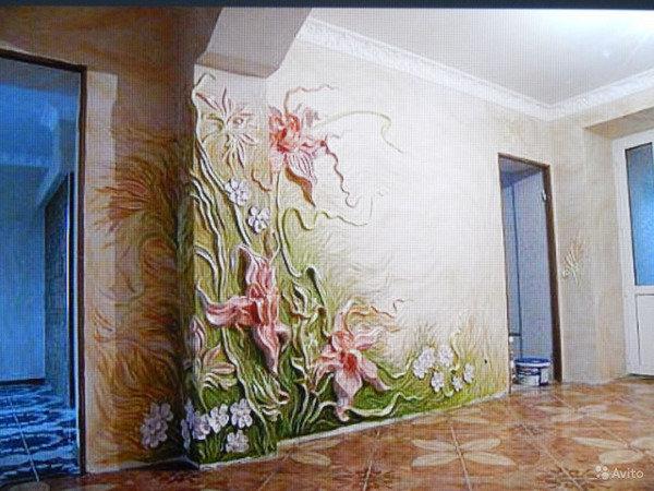 Объемная роспись стен