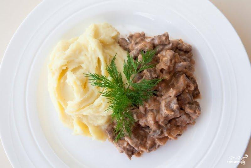Простой рецепт бефстроганов из говядины пошаговый рецепт