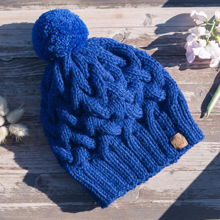 Вязание шапочки женской с косами 19