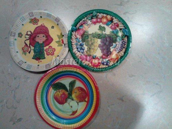 Декупаж бумажной тарелки