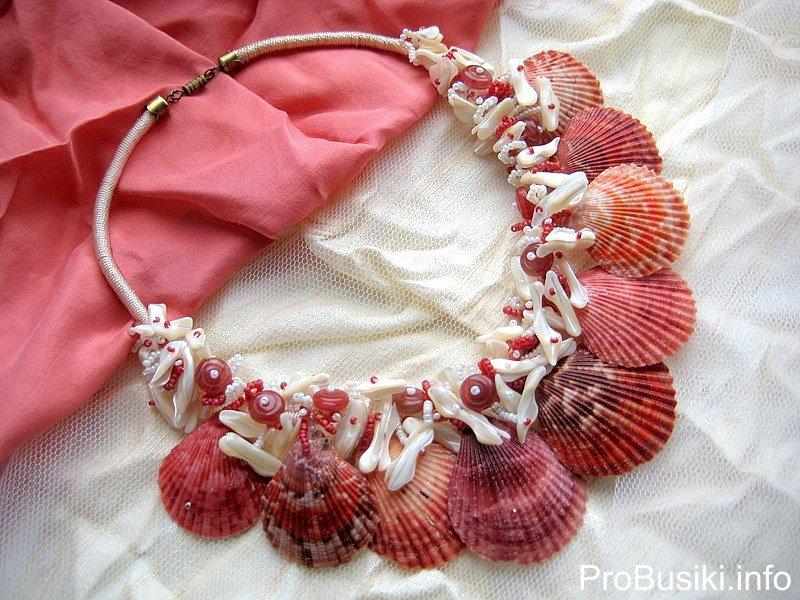 Ожерелье своими руками из ракушек 18