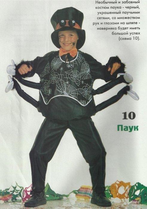 Сделать своими руками костюм паука