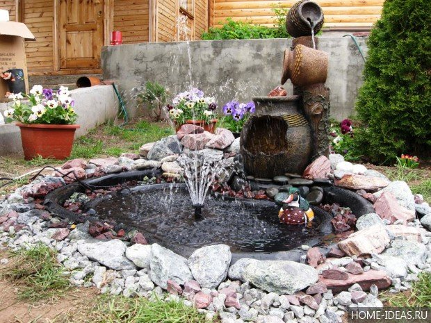 Пруд с фонтаном на даче своими руками ландшафтные идеи фото