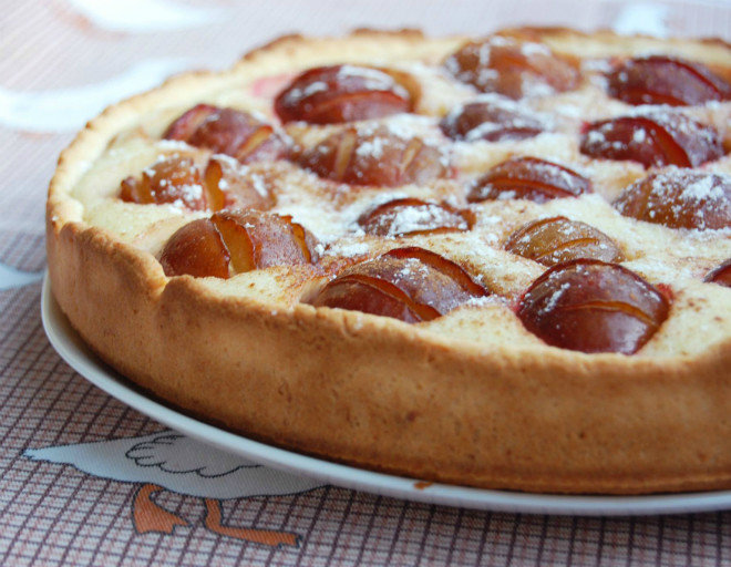 Рецепты с фото сливовый пирог