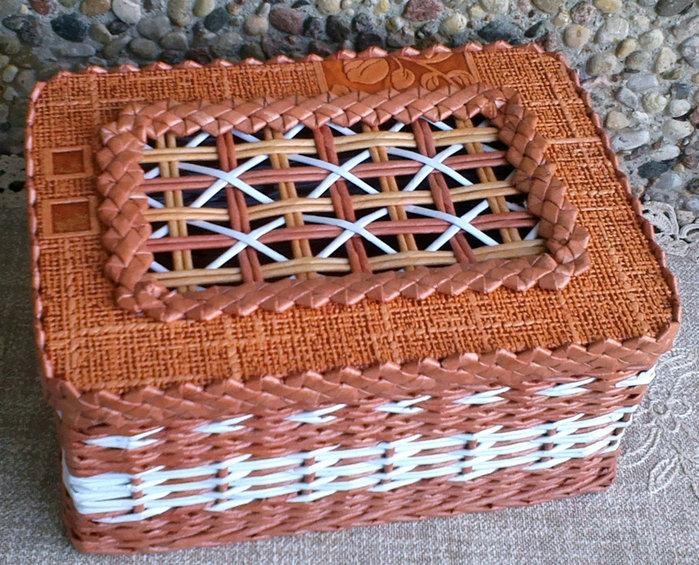 Плетение из газетных трубочек плетение сундучка