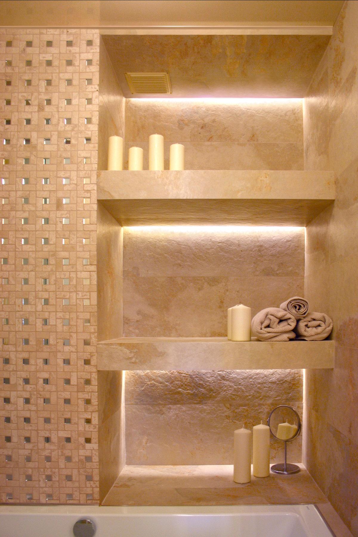 Как сделать из гипсокартона полки в ванной
