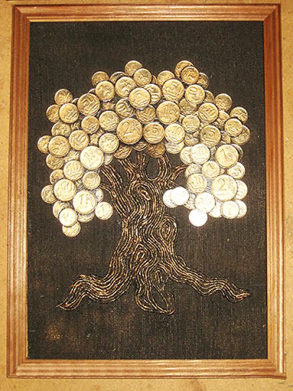 Картина денежное дерево пошаговое