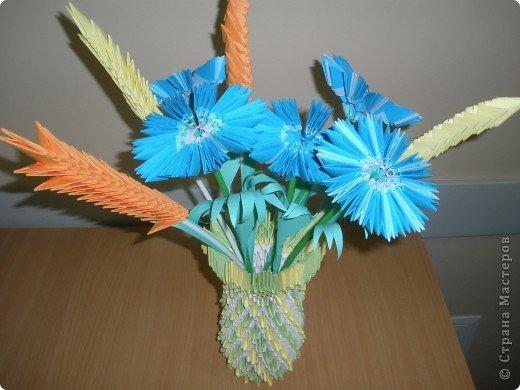 Цветы из бумаги модульное оригами