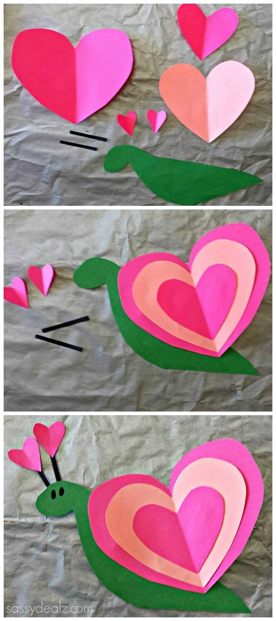 Поделки для детей своими руками сердечки 29