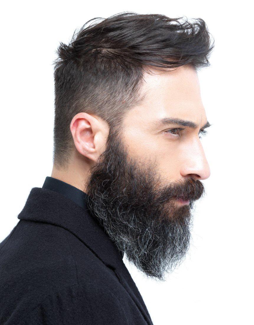 Фото мужские прически с бородой