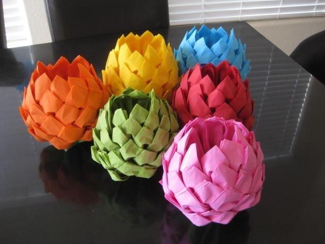 Цветок из салфеток своими руками лотос