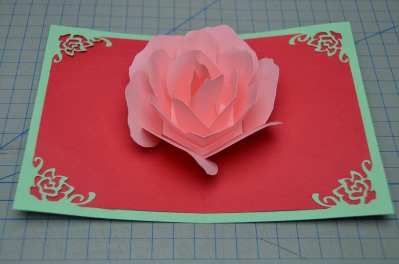 Объёмные открытки с цветами своими руками схемы шаблоны