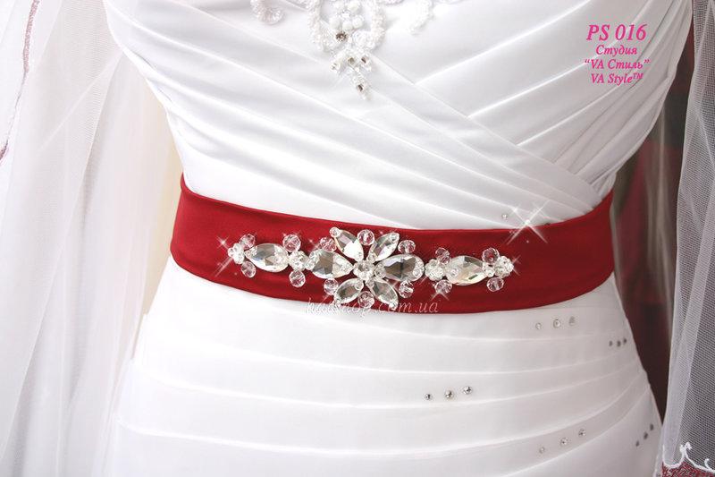 Пояс на свадебное платье своими руками