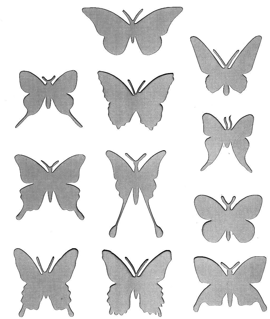 Декор стен бабочками своими руками трафарет 8