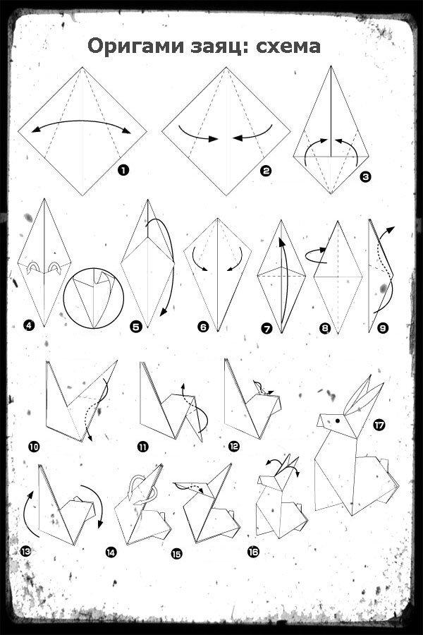 Как сделать оригами для начинающих схемы 368