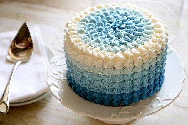 Синий торт своими руками 10
