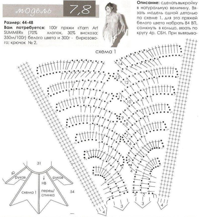 Вязание крючком из вискозы схемы и