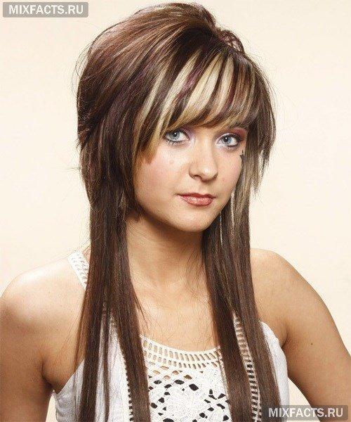 Прическа на длинные волосы шапочка