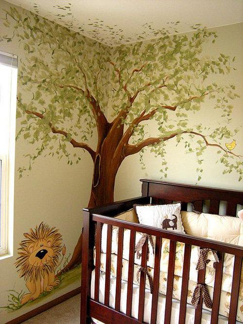 Дерево нарисованное на стене своими руками