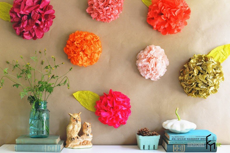 Декоративное цветы своими руками