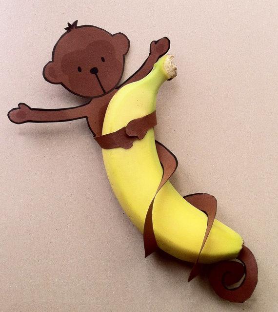 Банан объемный своими руками 26