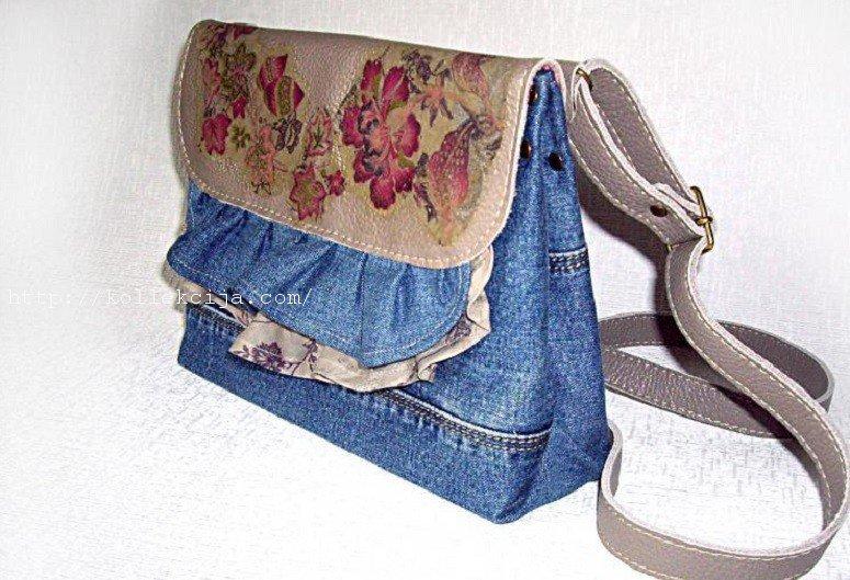Сшить сумку из джинсы мастер класс
