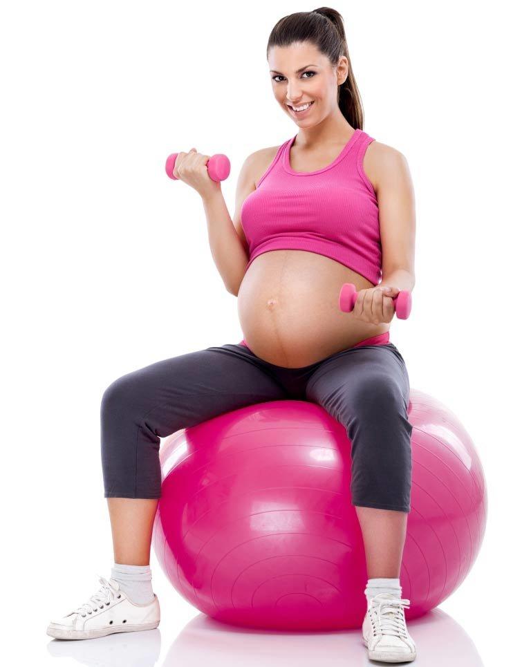 Как заниматься беременной на шаре 93
