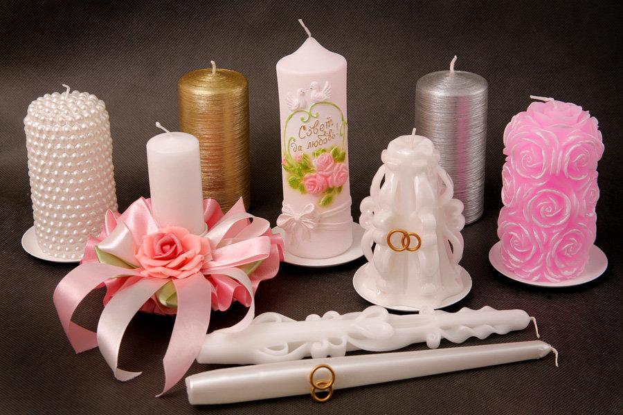 Украшение свадебных свеч своими руками 831