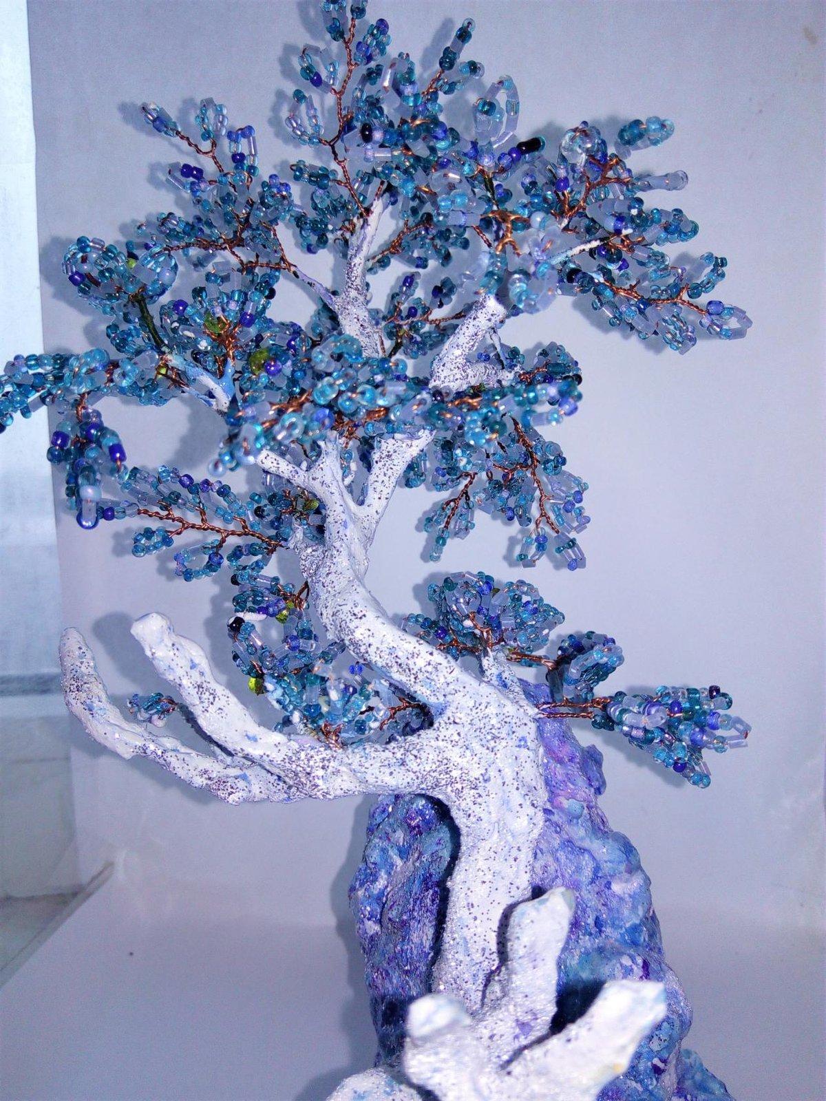 «зимние деревья из бисера мк с пошаговым, и бисероплетение