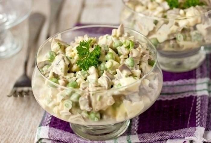 Салат с курицей и зеленью рецепт