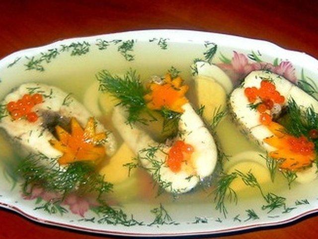 Заливное из рыбы пошаговый рецепты с