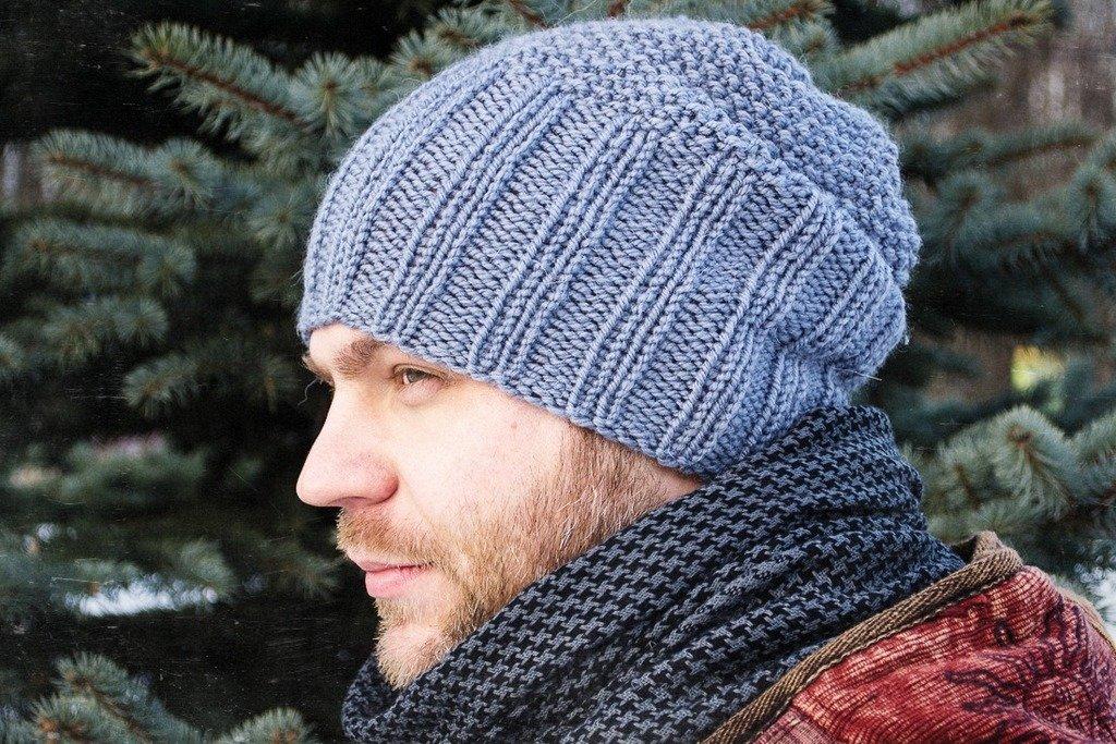 Вязание мужские модели шапок