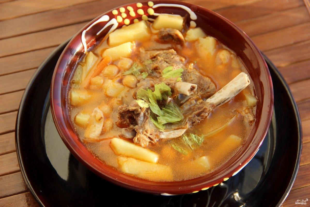 Суп гороховый с бараниной пошаговый рецепт