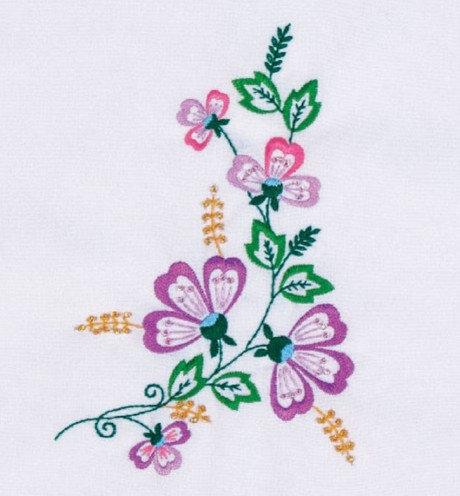 Рисунки вышивок гладью цветов 146