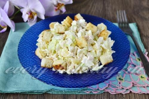 Вкусный праздничный салат ананас