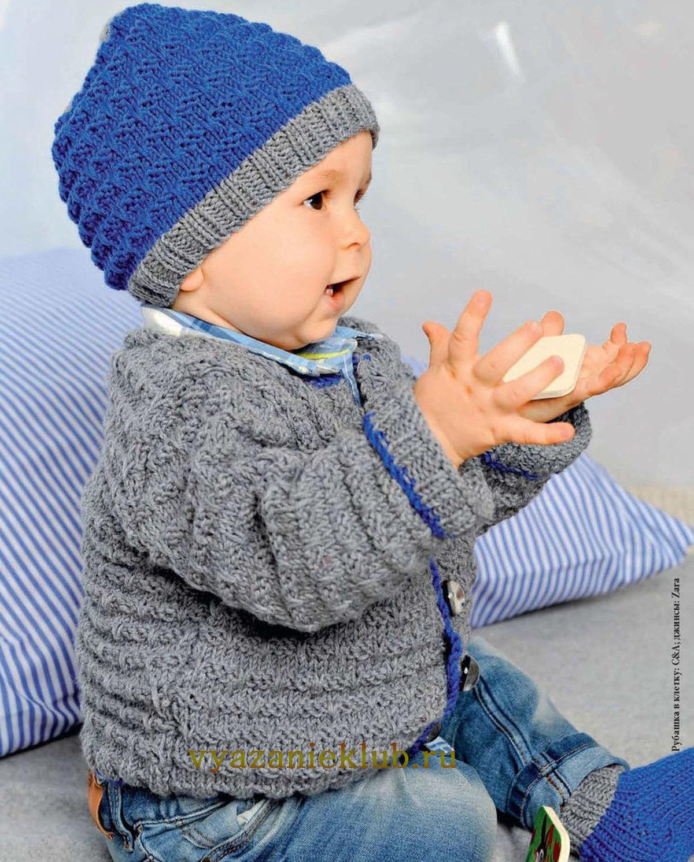Детская зимняя шапка с ушками Вяжем 2