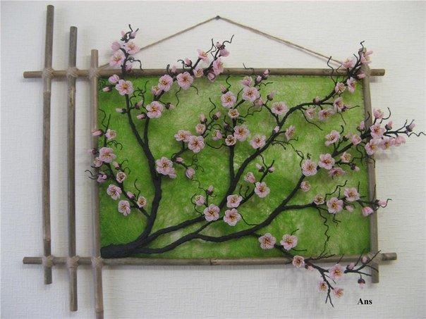 Как сделать сакуру из веток своими руками