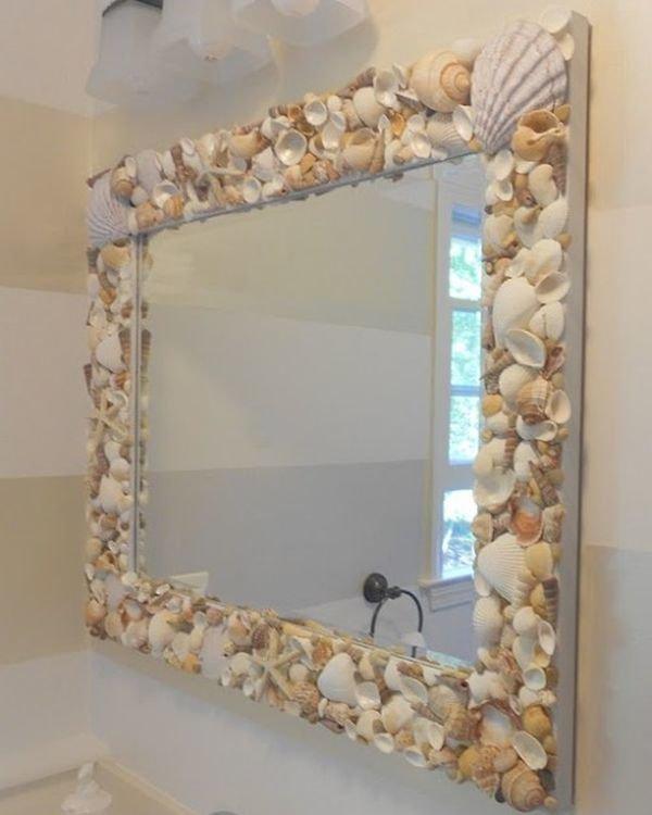 Рама для зеркала своими руками с ракушками