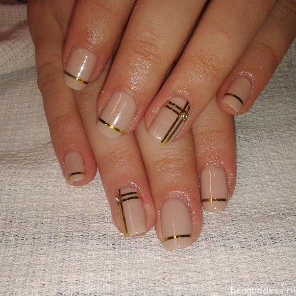 Фото ногти с лентами